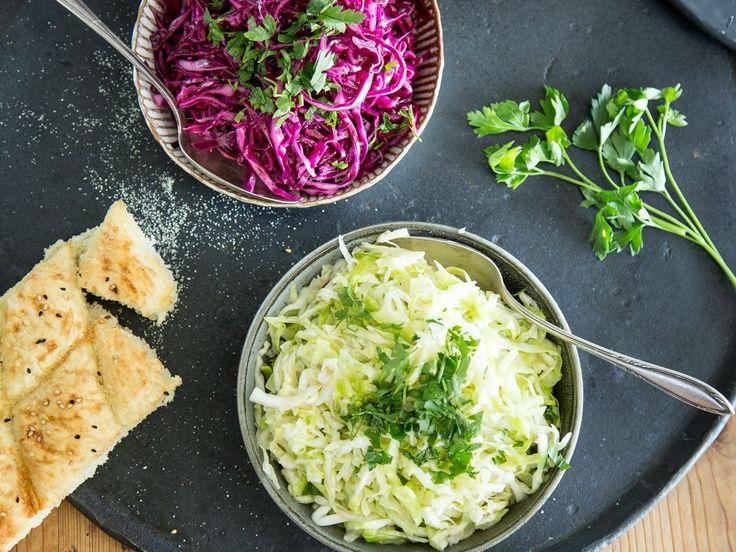 Selbstgemachter Krautsalat - knackige Beilage in Rot und Weiß