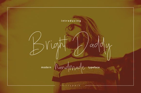 Bright Daddy Typeface by thirtypath on @creativemarket