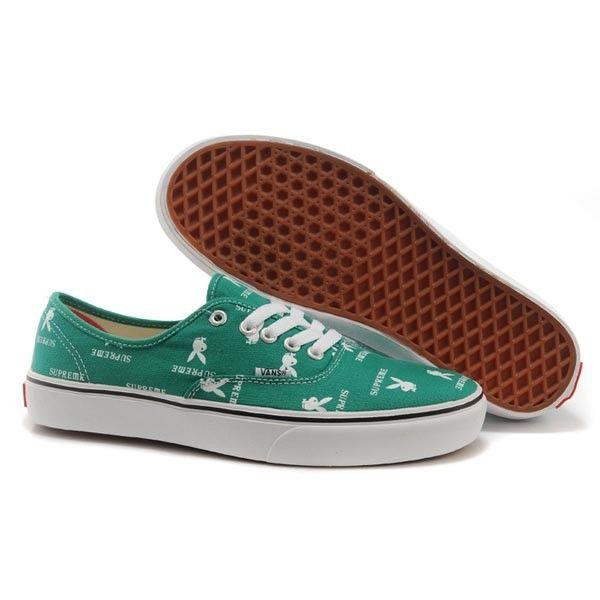 Vans Authentic Pro Shoes MensWomens Classic Canvas Sneakers Green Supreme X Playboy [vans4u4017] - $39.99 : Vans Shop, Vans Shop in California