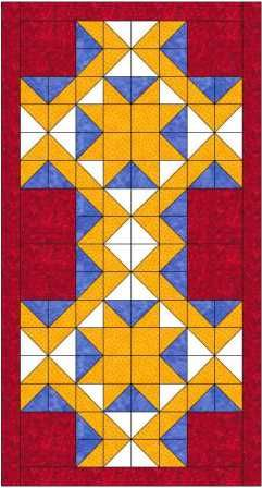 Magic carpet bed runner quilt pattern