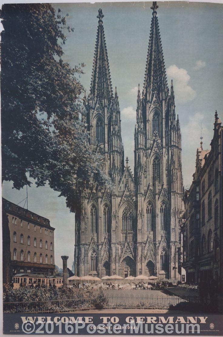 Germany travel poster. Circa 1935. Original. Printed in Germany.