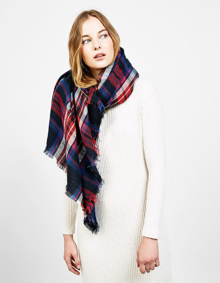 Checked scarf. Discover this and many more items in Bershka with new products every week