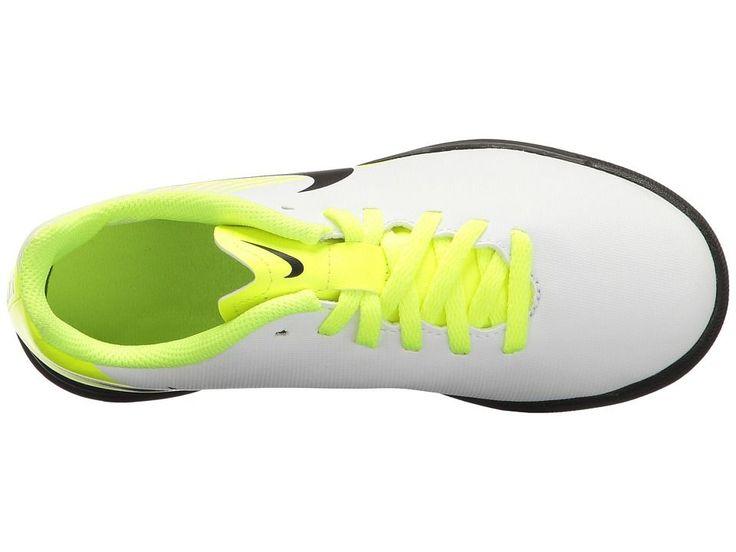 Nike Kids Magista Ola II TF Soccer (Little Kid/Big Kid) Kids Shoes White/Black/Volt/Pure Platinum