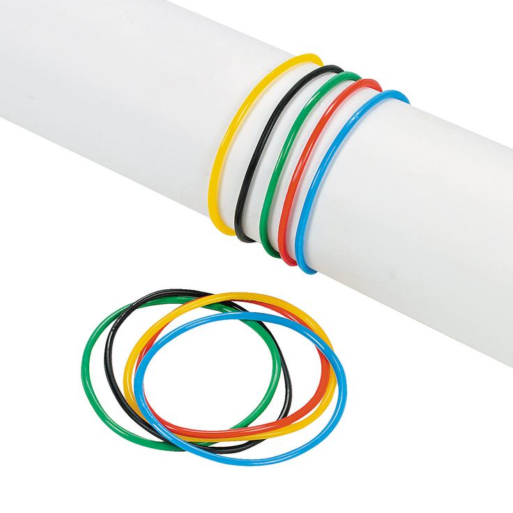 get one bracelet each time you leave an activity. Olympic Rings Jelly Bracelets - OrientalTrading.com
