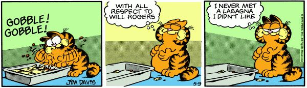Garfield lasagna | ... Garfield, or my love of lasagna. He may have had a huge impact on my