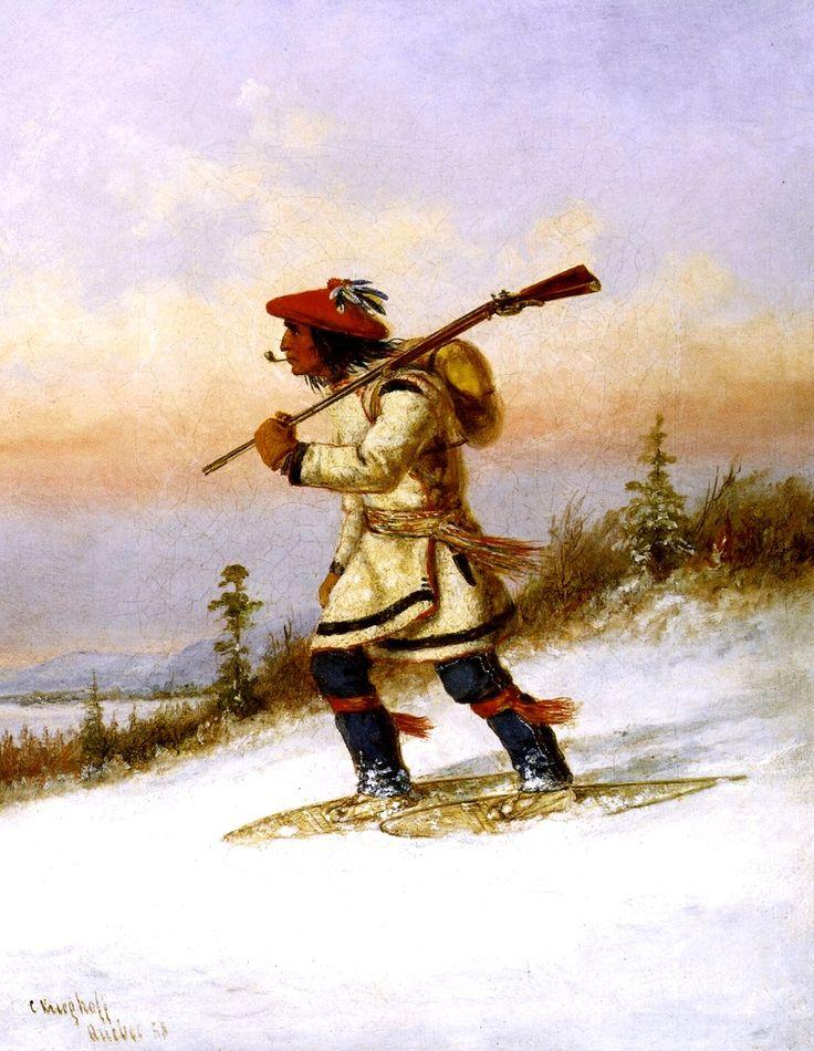 Cacciatore Indiano con Racchette da Neve III.