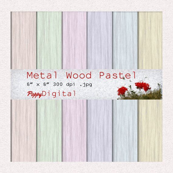 Pastel Digital Paper Wood Metal Pastel Pattern Background Texture Overlay - Instant Download -  Wood Metal Pastel
