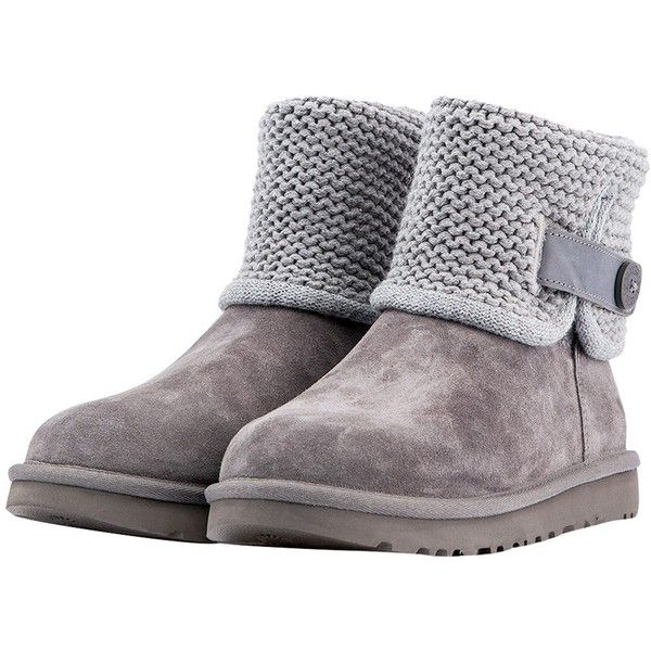 059fd0d29c2 Ugg Shaina Grey Knit Boots ($195) ❤ liked on Polyvore featuring ...