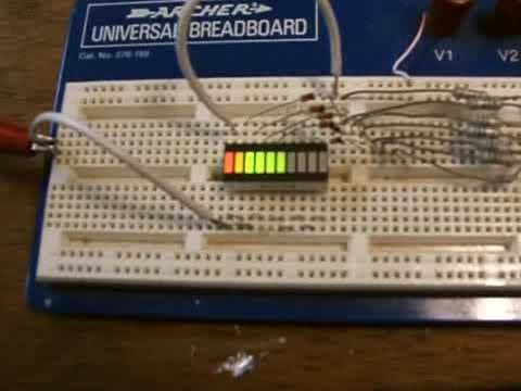 8 LED Voltage Meter - YouTube