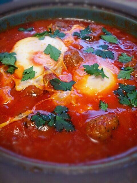 信楽焼のchubbyというタジン鍋を購入!! で、初めてのお料理がコチラでした♪ - 74件のもぐもぐ - モロッコ風スパイシーミートボール by あぶみん