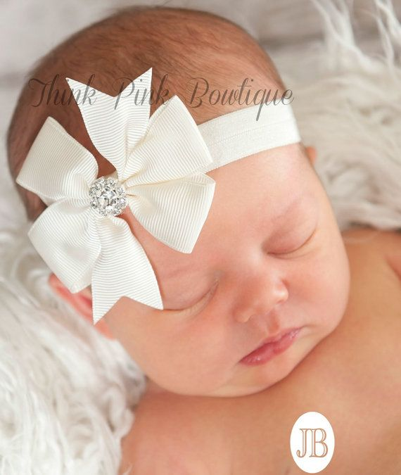 CHOOSE your COLOR Baby Headband Baby headbands by ThinkPinkBows, $5.95
