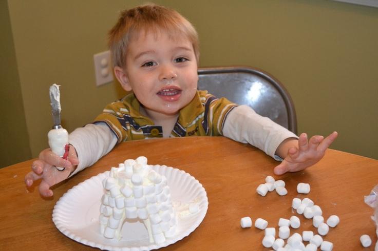 marshmallow math and igloos