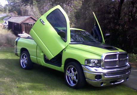 what a great lime green dodge ram truck not a lifted one but still great trucks pinterest. Black Bedroom Furniture Sets. Home Design Ideas
