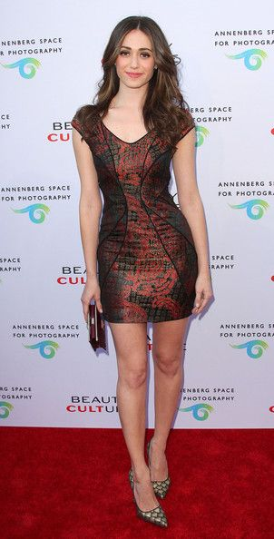 "Emmy Rossum In Monique Lhuillier – ""Beauty Culture"" At The Annenberg Space For Photography Opening Night 2011"