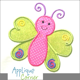 VERY cute butterfly applique