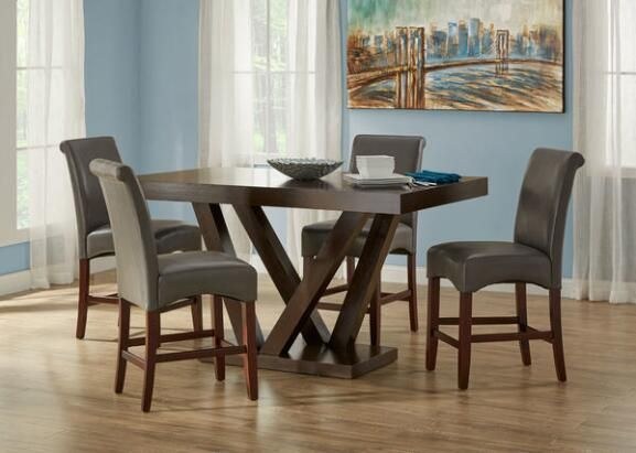 Cora Gray 5 Pc. Counter Height Dinette