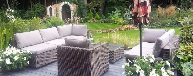 Rattan Garden Furniture Sale. Midlands Showroom. Our Rattan Furniture Collection includes Rattan Furniture Cube Sets, Rattan Garden Sofas, Modular Corner Sofas, Aluminium Garden. http://www.featuredeco.co.uk
