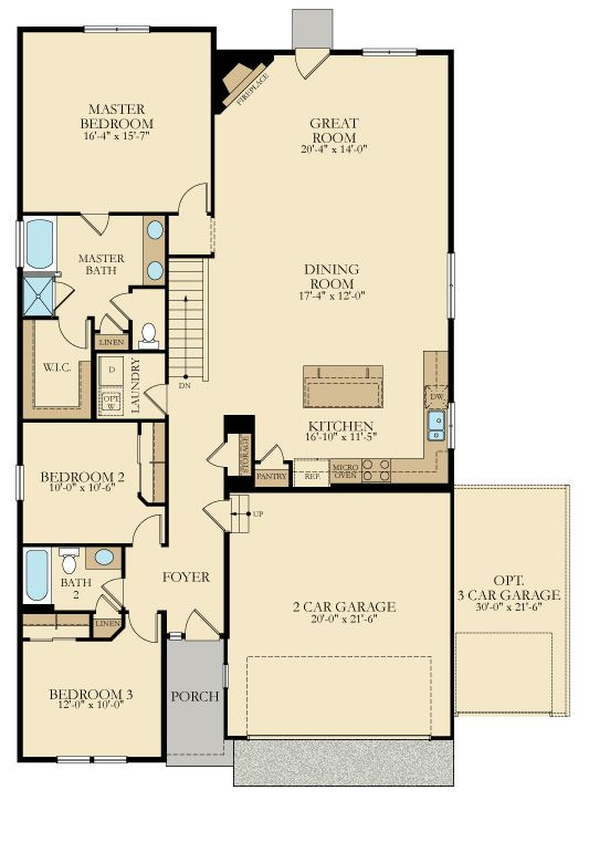 162 best house plans 1800 2200 sq ft images on pinterest for Floor plans for 2200 sq ft homes