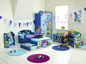 Choose From: Monsters University Bedroom Furniture, Bed, Bookcase, Toy  Box,Light