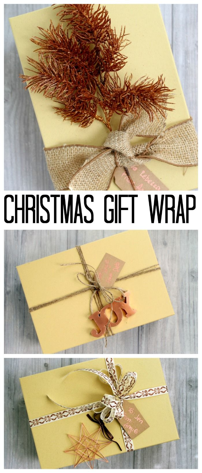 Christmas Gift Wrap: Quick and Easy Ideas | Pinterest | Christmas ...