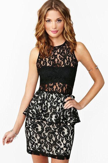 Increíbles vestidos de encaje cortos   Moda 2014