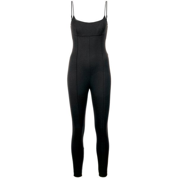 Alexander Wang Fitted Jumpsuit ($1,095) ❤ liked on Polyvore featuring jumpsuits, black, jump suit, alexander wang jumpsuit, alexander wang, sleeveless jumpsuit and fitted jumpsuit