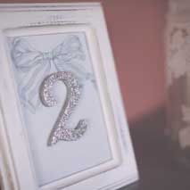 AnDphotography -  handmade wedding decorations: table numbers!