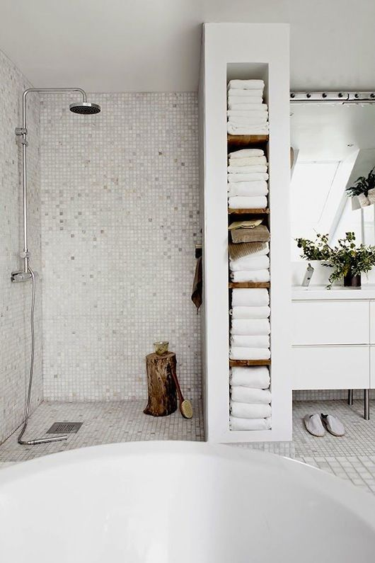 Considering similar but finer put together vertical storage in our powder room