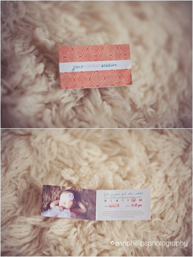 Appointment card reminder, maybe with ordering session option as well? Erin Phillips Photography, Slidell LA Photographer