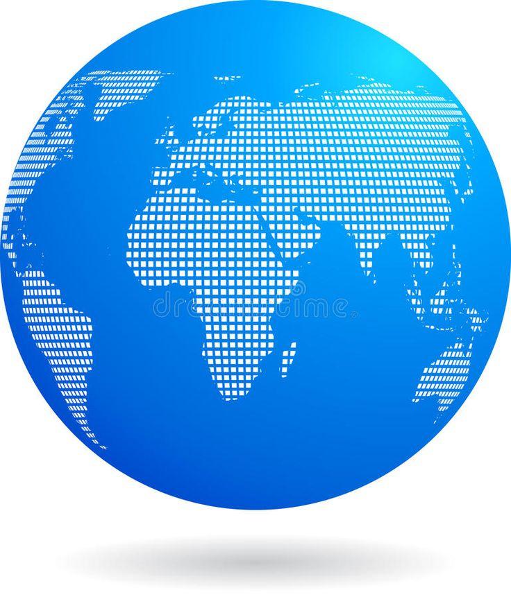 Blue globe icon – technology theme. Blue 3d globe with binary dots pattern and g , #Sponsored, #technology, #theme, #binary, #Blue,