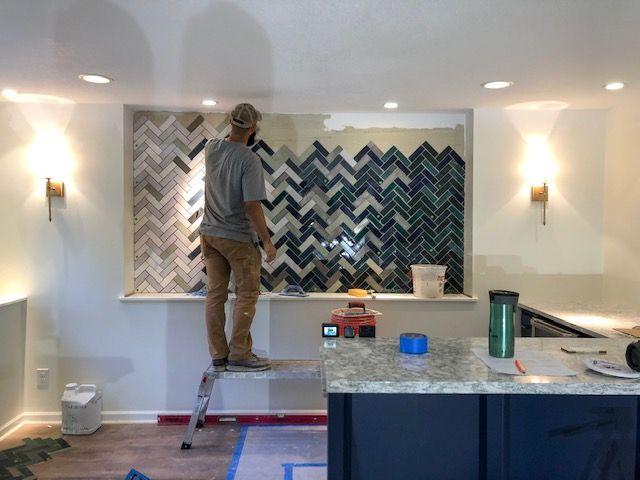 Our Lower Level Custom Tile Design Tile Design Unique Tile