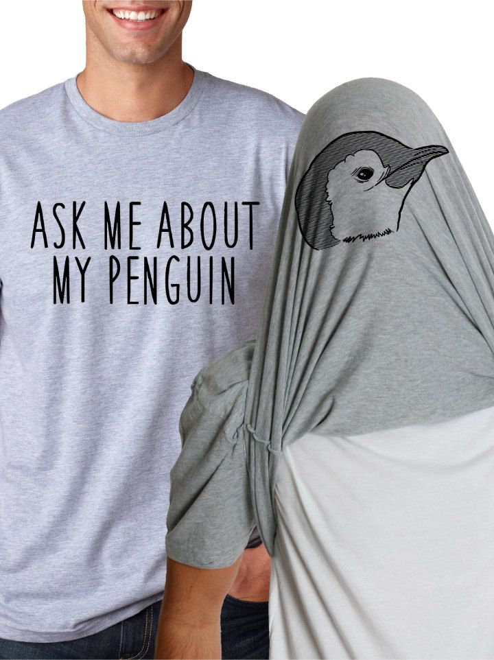 Mens Ask me about my Penguin T-Shirt funny penguin flip shirt awesome back to school in style college zoo animal arctic shirt S-5XL (18.99 USD) by CrazyDogTshirts