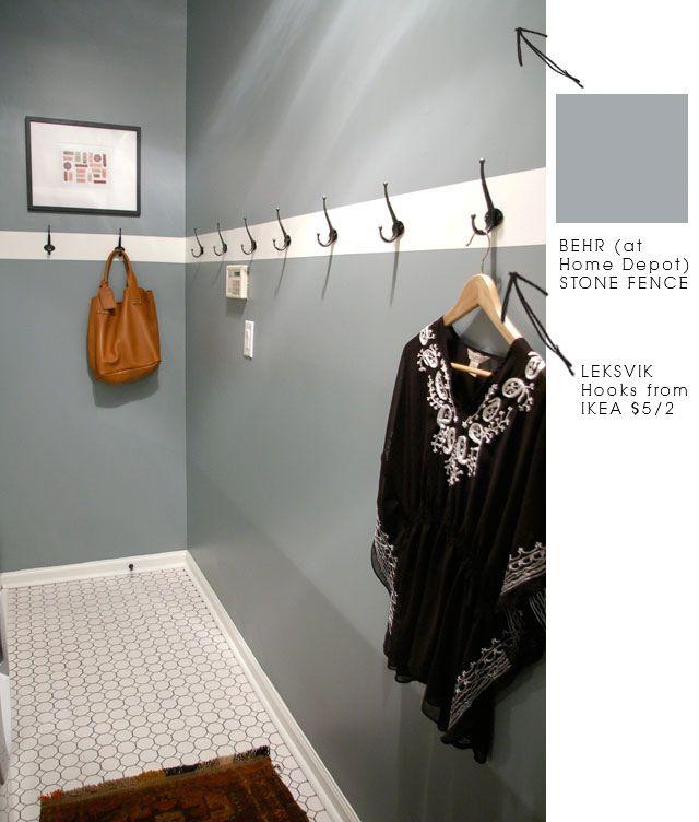 Mud Room/laundry Room Idea Paint = Behr Stone Fence