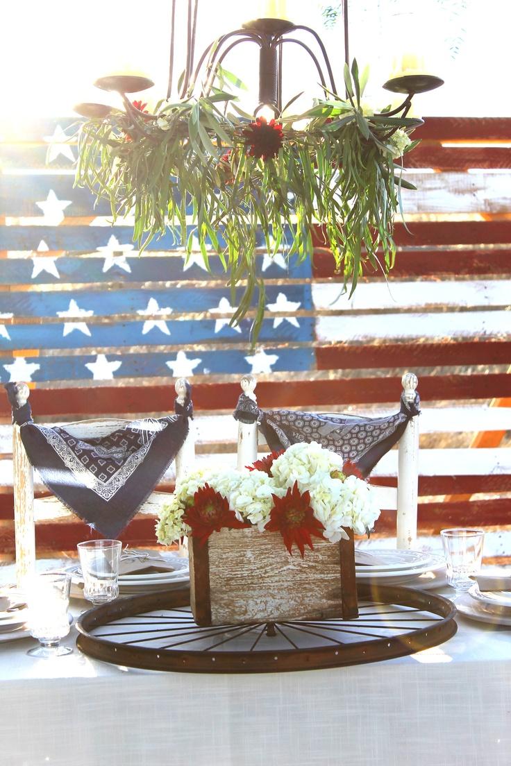 Rustic 4th of July Country Wedding  www.eventfulplanner.com