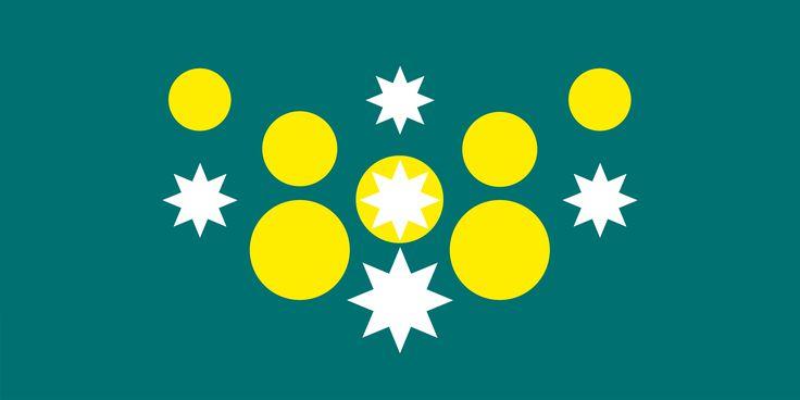 New Australian Flag design proposal series UluruSky Flag - GreenGold Horizon 7dotEurSC5-BlueGreen