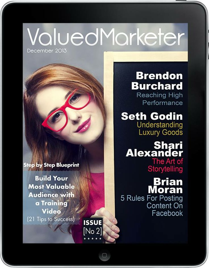 December issue of ValuedMarketer Magazine.  More info: http://magazine.valuedmarketer.com   iTunes: https://itunes.apple.com/us/app/valuedmarketer-magazine-become/id709724297?l=pl&ls=1&mt=8