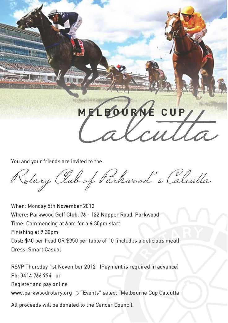 Melbourne Cup invite