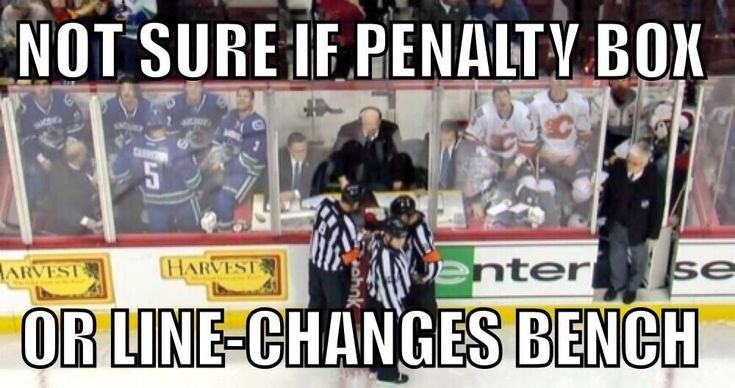 Canucks vs Flames- I didn't know you could fit that many players into a penalty box