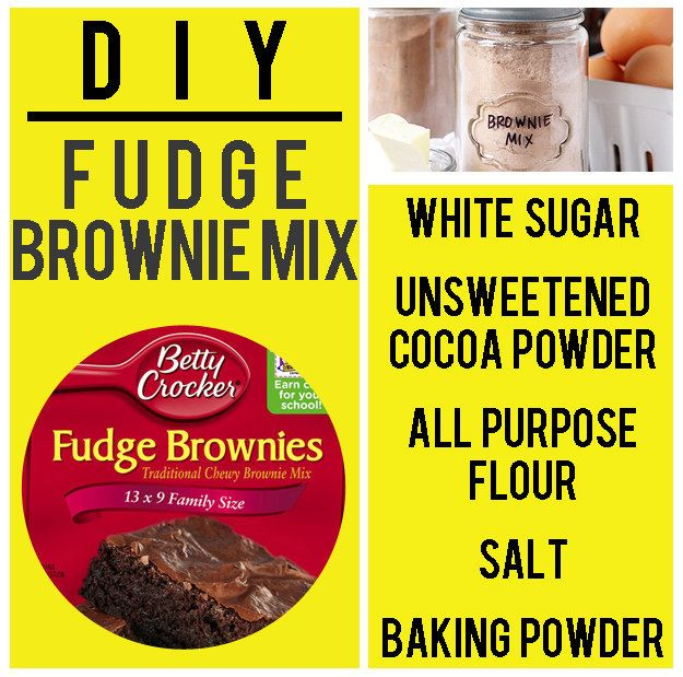 Home-made brownie mix. Recipe makes one brownie batch
