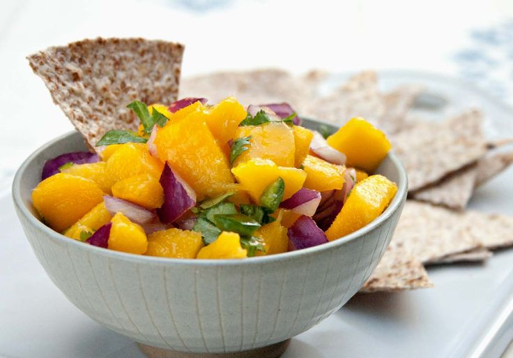 From our blog: 4-ingredient Chunky Mango Salsa tastes sweet-spicy and scrumptious with baked sprouted-grain tortilla chips, rice crackers -- or just straight out of the bowl as your Phase 1 fruit.