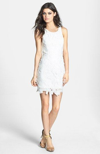 Rehearsal Dinner Dress? ASTR Textured Floral Body-Con Dress available at #Nordstrom