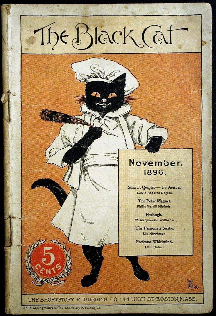 The Black Cat magazine, November 1896. (peterspaperantiques.com)