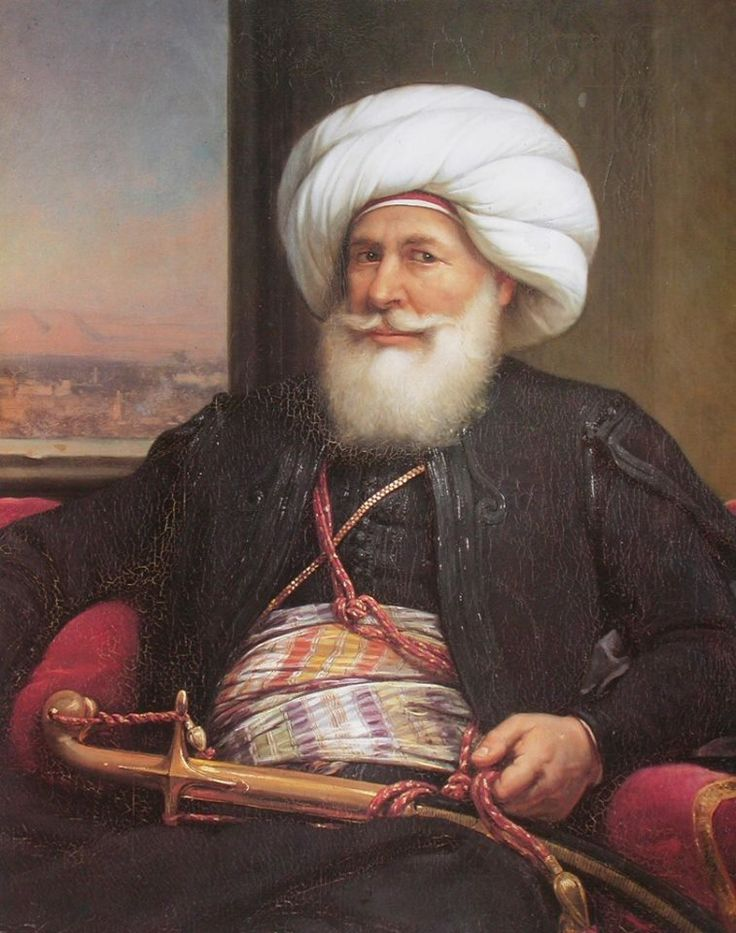 Louis Charles Auguste Couder- French 1790 - 1873 : Muhammad Ali Pasha .. Oil on canvas 1840