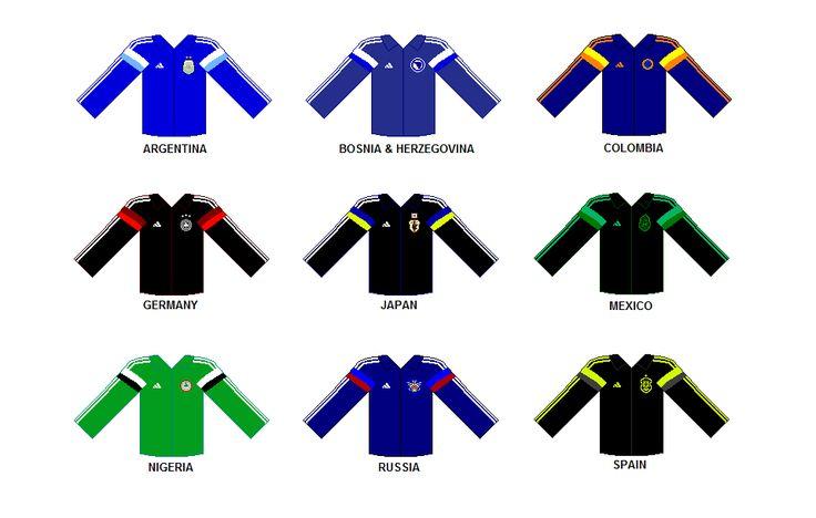 Adidas Jackets Training 2014 FIFA World Cup