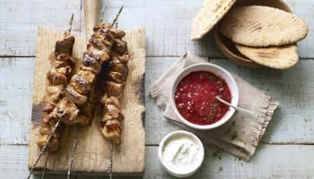 Shashlik is a Russian version of shish kebabs. If you don't like pork you can use lamb or beef, just make sure you give the meat enough time to marinate and you cook it quickly over a high heat to keep it moist.