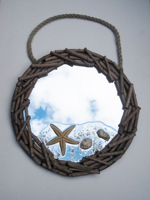 Starfish Mirror Wall Mirror Driftwood Mirror Beach by TheRightJack