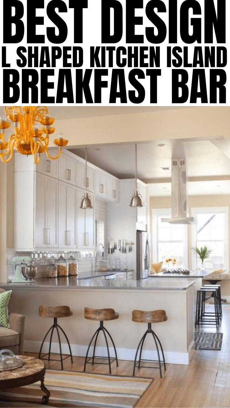 best design l shaped kitchen island breakfast bar in 2019 l shaped kitchen l shaped island on l kitchen id=33929