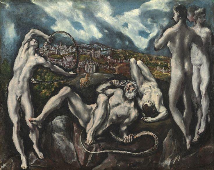 """Le Greco - """"Laocoon"""" - (v.1610/1614) - conservé à washington au National Gallery of Art"""