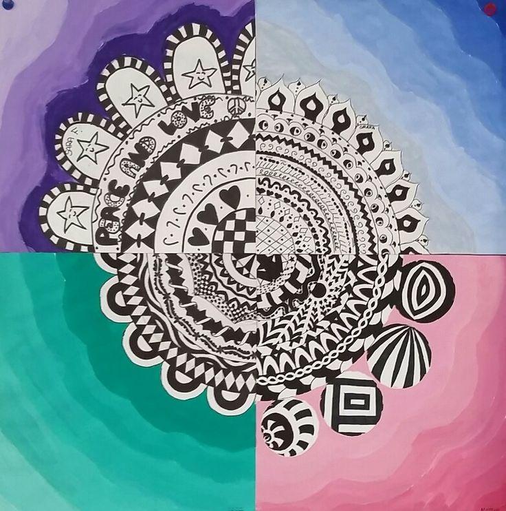 Gradazioni di colore e zentangle