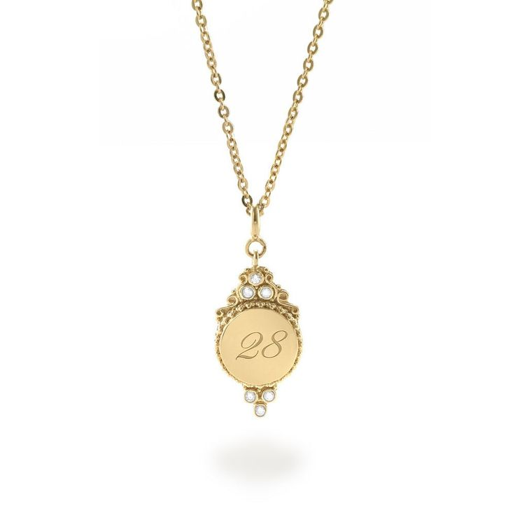 Tulola Engraved Round Pendant Gold Dip (Custom Order) http://www.shoptulola.com/collections/engraved-round-pendant-custom-order.html #SophieParis